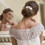 Wedding, hair dress, leather, flowers, Dress: Lohrengel, Jewels: Sky is no limiT