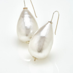 Bridal Jewels, Earring, big pearl, wedding, Sky is no limiT