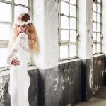 Brautfrisur, Haarkranz: Sky Lange-Ford, Foto: Uta Konopka
